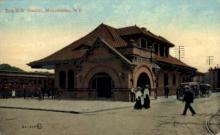 dep-NY110 - Erie R.R. Station, Middletown, New York, NY, USA Railroad Train Depot Postcard Post Card
