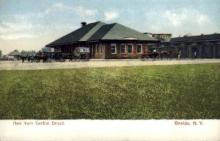 dep-NY111 - New York Central Depot, Oneonda, New York, NY, USA Railroad Train Depot Postcard Post Card