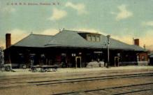 dep-NY117 - D.&H.R.R.Station, Oneonta, New York, NY, USA Railroad Train Depot Postcard Post Card