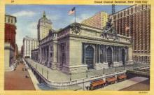 dep-NY119 - Grand Central Terminal, New York City, New York, NY, USA Railroad Train Depot Postcard Post Card