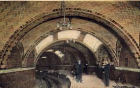 dep-NY120 - City Hall Subway Station, New York City, New York, NY, USA Railroad Train Depot Postcard Post Card
