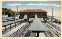 dep-NY121 - R.R. Depot, Ossining, New York, NY, USA Railroad Train Depot Postcard Post Card