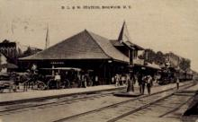dep-NY122 - D.L.&W. Station, Norwich, New York, NY, USA Railroad Train Depot Postcard Post Card