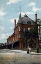 dep-NY133 - Depot, Gloversville, New York, NY, USA Railroad Train Depot Postcard Post Card