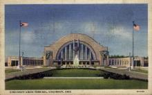 dep-OH003 - Cincinnati Union Terminal, Cincinnati, Ohio, OH, USA Railroad Train Depot Postcard Post Card