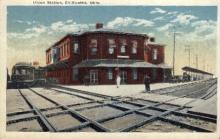 dep-OH006 - Union Station, Chillicothe, Ohio, OH, USA Railroad Train Depot Postcard Post Card