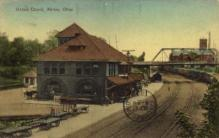 dep-OH007 - Union Depot, Akron, Ohio, OH, USA Railroad Train Depot Postcard Post Card