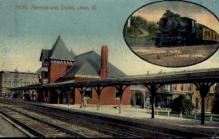 dep-OH008 - Pennsylvania, Lima, Ohio, OH, USA Railroad Train Depot Postcard Post Card