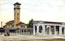 dep-OH015 - Union Station, Dayton, Ohio, OH, USA Railroad Train Depot Postcard Post Card