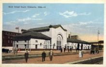 dep-OK003 - Rock Island Depot, Chickasha, Oklahoma, OK, USA Railroad Train Depot Postcard Post Card