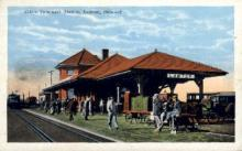 dep-OK008 - Frisco Passenger Station, Lawton, Oklahoma, OK, USA Railroad Train Depot Postcard Post Card