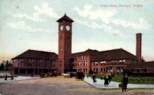 dep-OR001 - Union Depot, Portland, Oregon, OR, USA Railroad Train Depot Postcard Post Card