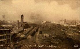 dep-OR002 - Union Depot, Portland, Oregon, OR, USA Railroad Train Depot Postcard Post Card