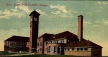 dep-OR004 - Union Depot, Portland, Oregon, OR, USA Railroad Train Depot Postcard Post Card