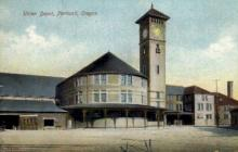 dep-OR005 - Union Depot, Portland, Oregon, OR, USA Railroad Train Depot Postcard Post Card