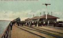 dep-OR007 - Midlake Station, Great Salt Lake, Oregon, OR, USA Railroad Train Depot Postcard Post Card