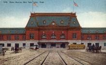 dep-OR011 - Union Station, Salt Lake City, Oregon, OR, USA Railroad Train Depot Postcard Post Card