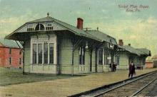 dep-PA002 - Nickel Plate Depot, Erie, Pennsylvania, PA, USA Railroad Train Depot Postcard Post Card