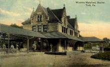 dep-PA005 - Western Maryland Station, York, Pennsylvania, PA, USA Railroad Train Depot Postcard Post Card