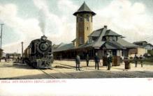 dep-PA007 - Phila. And Reading Depot, Lebanon, Pennsylvania, PA, USA Railroad Train Depot Postcard Post Card