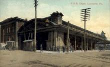 dep-PA008 - P.R.R. Depot, Lancaster, Pennsylvania, PA, USA Railroad Train Depot Postcard Post Card