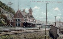 dep-PA014 - Lehigh Valley R.R. Station, Easton, Pennsylvania, PA, USA Railroad Train Depot Postcard Post Card