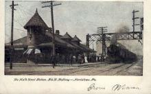 dep-PA015 - De Kalb Street Station, Norristown, Pennsylvania, PA, USA Railroad Train Depot Postcard Post Card
