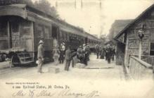 dep-PA016 - Railroad Station, Mt. Gretna, Pennsylvania, PA, USA Railroad Train Depot Postcard Post Card