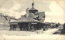 dep-PA017 - P. and R.R.R. Station, Lewisburg, Pennsylvania, PA, USA Railroad Train Depot Postcard Post Card