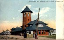 dep-PA018 - Philadelphia and Reading R.R. Station, Lebanon, Pennsylvania, PA, USA Railroad Train Depot Postcard Post Card