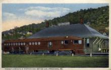 dep-PA021 - Pennsylvania R.R. Station, Bradford, Pennsylvania, PA, USA Railroad Train Depot Postcard Post Card
