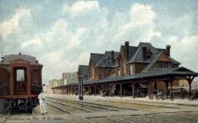 dep-PA022 - Wilkesbarre, Pennsylvania, PA, USA Railroad Train Depot Postcard Post Card