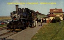 dep-PA024 - Strasburg, Pennsylvania, PA, USA Railroad Train Depot Postcard Post Card