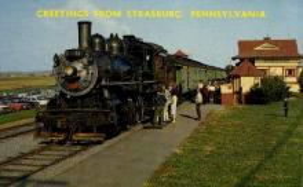 dep-PA026 - Strasburg, Pennsylvania, PA, USA Railroad Train Depot Postcard Post Card