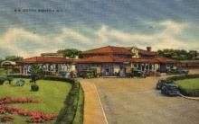 dep-RI009 - R.R. Station, Westerly, Rhode Island, RI, USA Railroad Train Depot Postcard Post Card