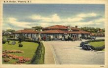 dep-RI013 - Railroad Station, Westerly, Rhode Island, RI, USA Railroad Train Depot Postcard Post Card