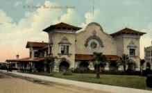 dep-TX004 - S.P. Depot, San Antonio, Texas, TX, USA Railroad Train Depot Postcard Post Card