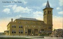 dep-TX008 - Union Station, El Paso, Texas, TX, USA Railroad Train Depot Postcard Post Card