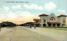 dep-TX012 - Sunset Depot, San Antonio, Texas, TX, USA Railroad Train Depot Postcard Post Card