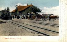 dep-TX014 - Comfort Station, Texas, TX, USA Railroad Train Depot Postcard Post Card