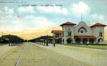 dep-TX015 - Sunset Depot, San Antonio, Texas, TX, USA Railroad Train Depot Postcard Post Card
