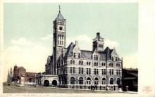 dep-TX019 - Union Station, Nashville, Texas, TX, USA Railroad Train Depot Postcard Post Card