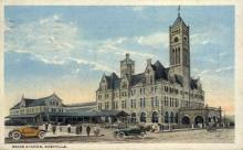 dep-TX022 - Union Station, Nashville, Texas, TX, USA Railroad Train Depot Postcard Post Card