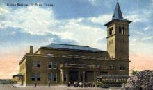 dep-TX029 - Union Station, El Paso, Texas, TX, USA Railroad Train Depot Postcard Post Card