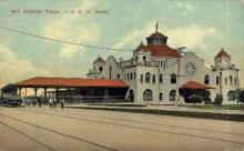 dep-TX030 - I. and G.N. Depot, San Antonio, Texas, TX, USA Railroad Train Depot Postcard Post Card