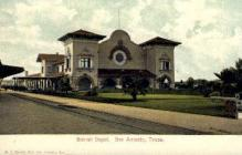 dep-TX036 - Sunset Depot, San Antonio, Texas, TX, USA Railroad Train Depot Postcard Post Card