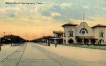 dep-TX038 - Sunset Depot, San Antonio, Texas, TX, USA Railroad Train Depot Postcard Post Card