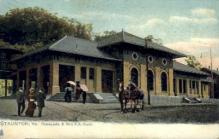 dep-VA005 - Chesapeake and Ohio R.R. Depot, Stauton, Virginia, VA, USA Railroad Train Depot Postcard Post Card