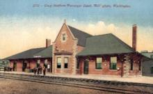 dep-WA005 - Great Northern, Passenger Depot, Bellingham, Washington, WA, USA Railroad Train Depot Postcard Post Card