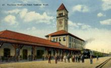dep-WA007 - Great Northern Depot, Spokane, Washington, WA, USA Railroad Train Depot Postcard Post Card